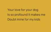 love for your dog card