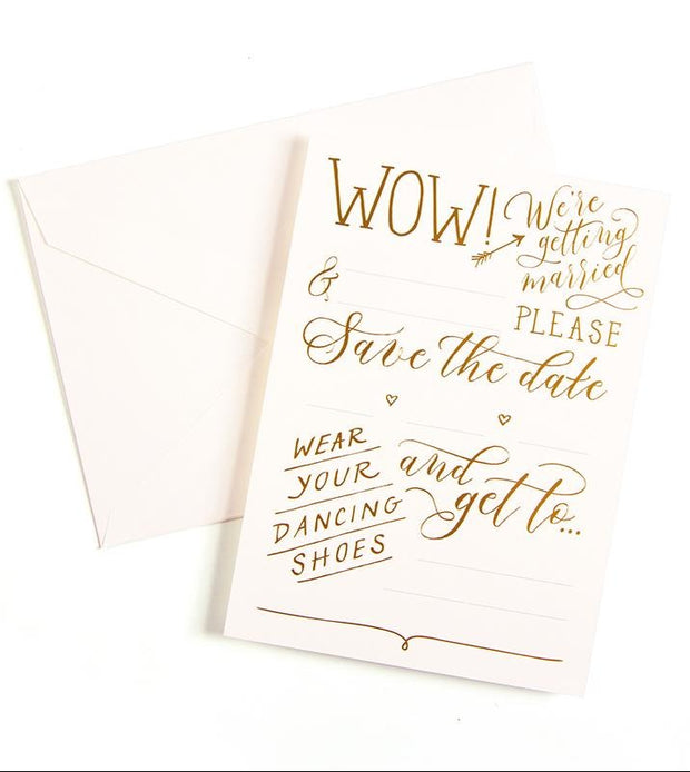 love lettering fill-in save the date cards - set of 10