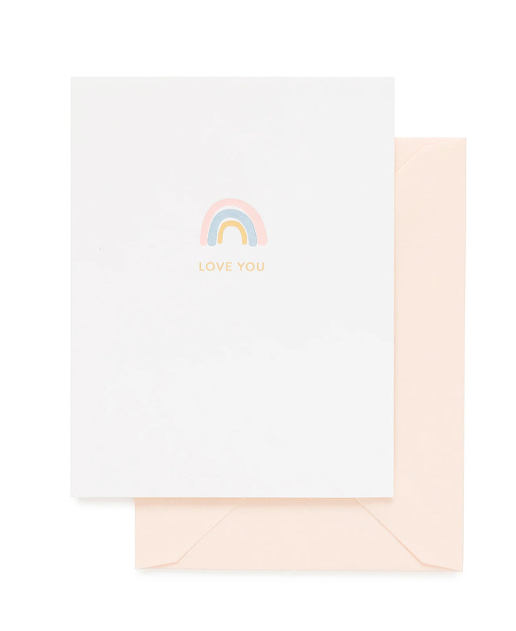 rainbow love you card