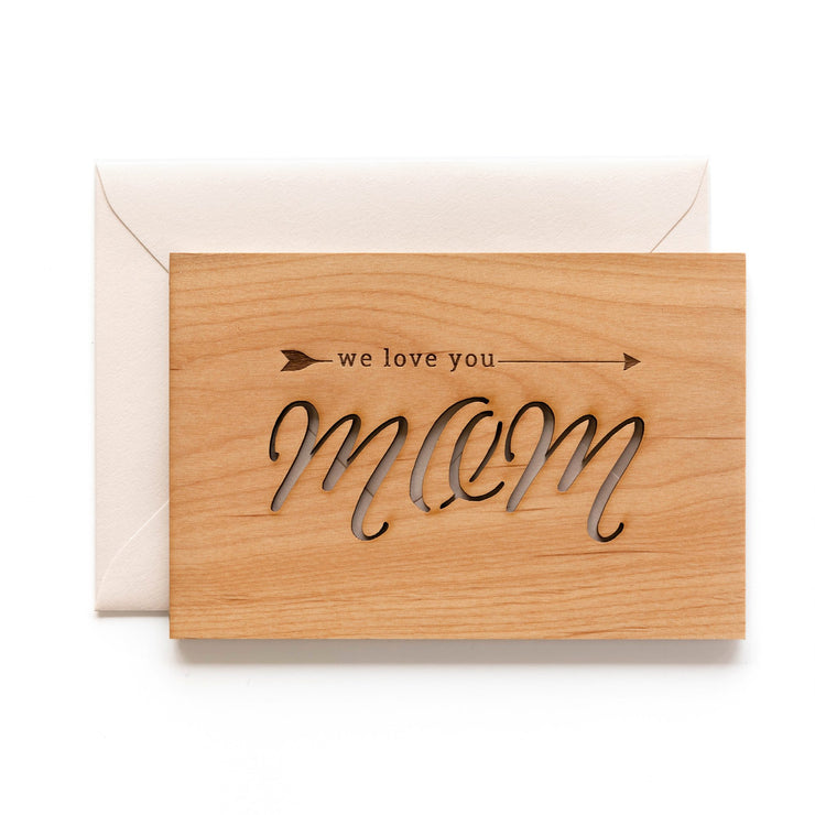 love arrow wooden mother's day card