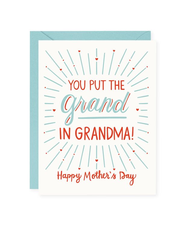 you put the grand in grandma mother's day card