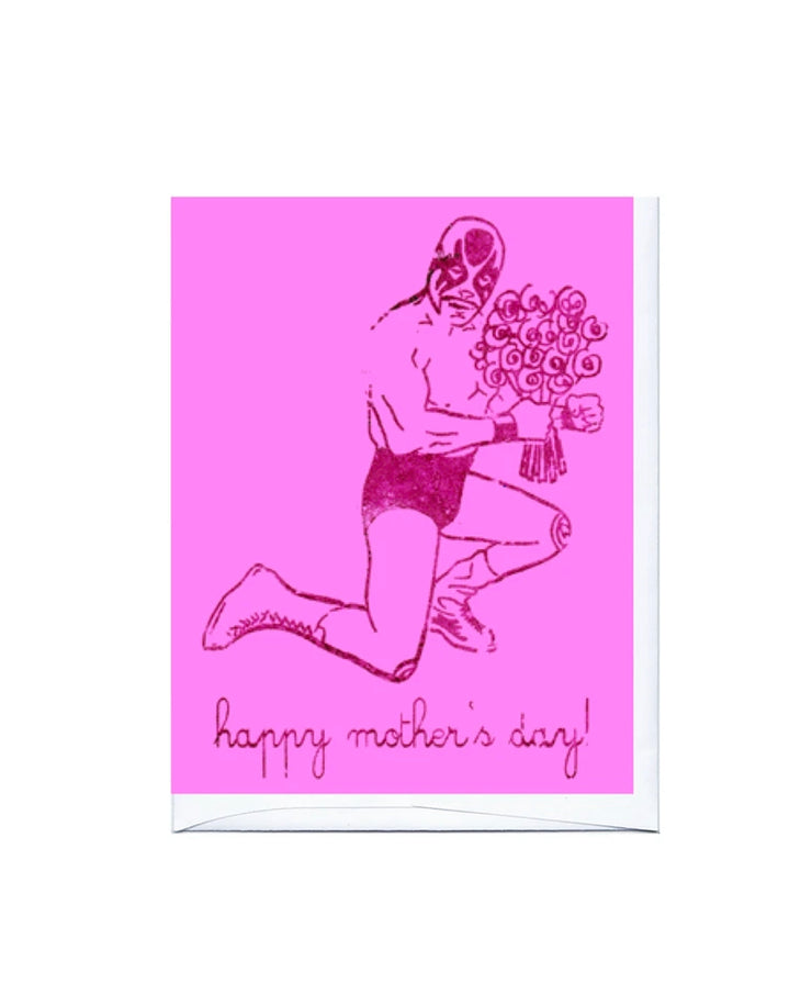 luchador mother's day card