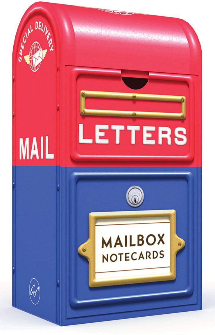 mailbox notecards: 20 vintage stamp notecards