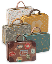 metal mini storage suitcases - various colors
