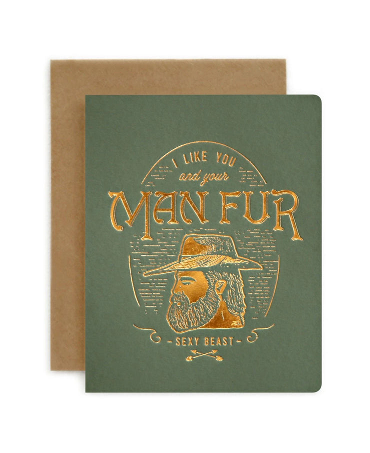 man fur love card