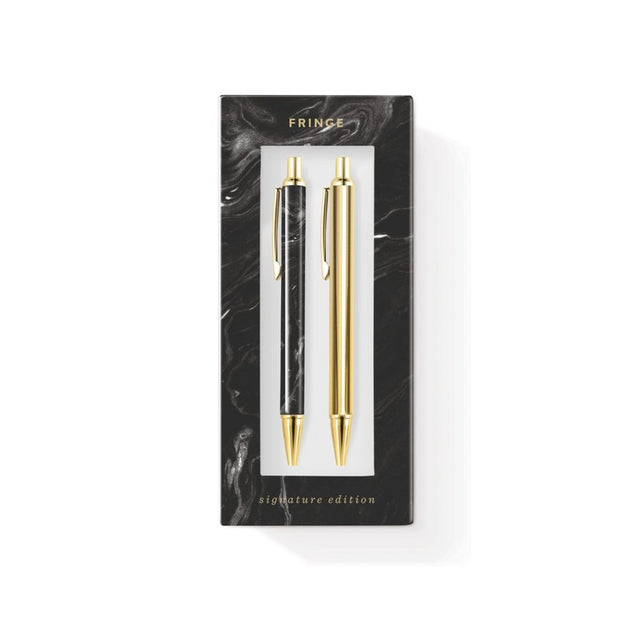 marble pen & pencil set