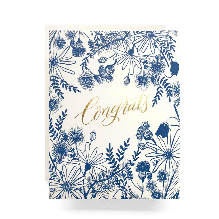 meadow congrats gold foil card
