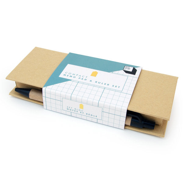 memo pad and ruler set
