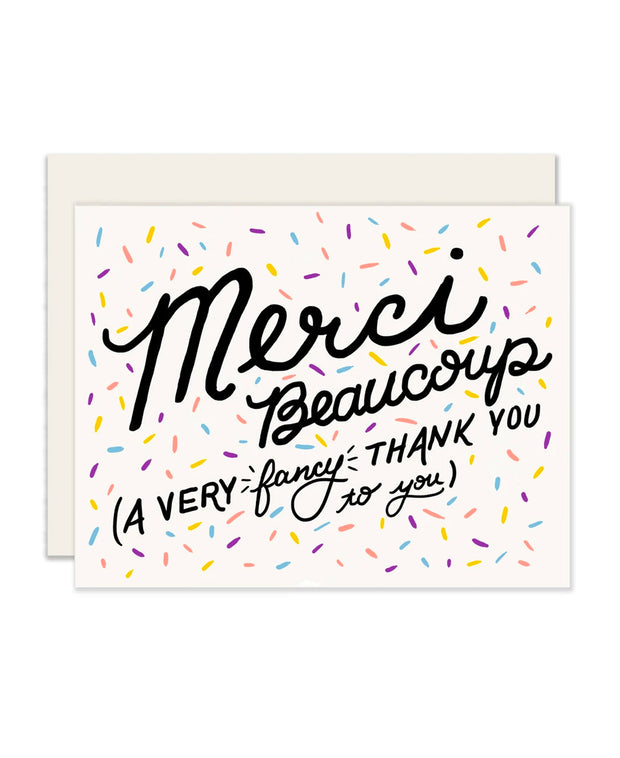 merci - fancy thank you card
