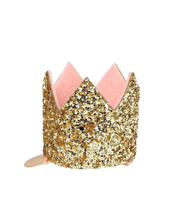 mini glittered crown hair clip