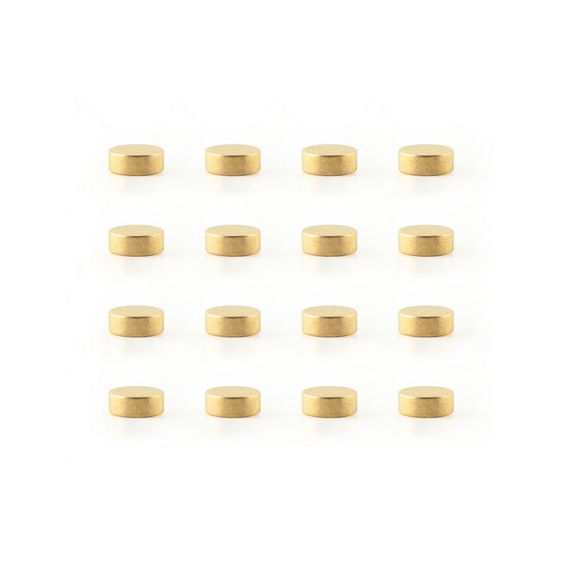 mighties mini magnets - 8 pack & 16 pack - gold / silver / copper