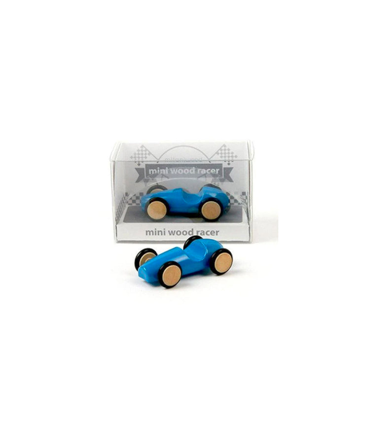 mini wood racer - blue
