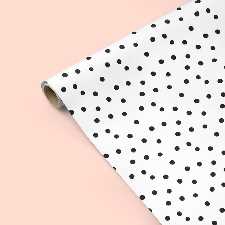 modern black & white polka dots - single sheet or set of 3 sheets
