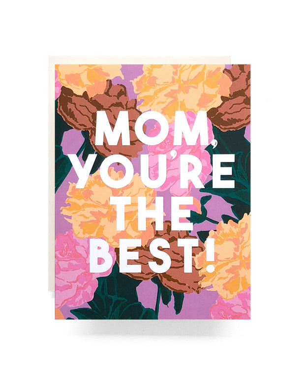 mom you're the best roses card