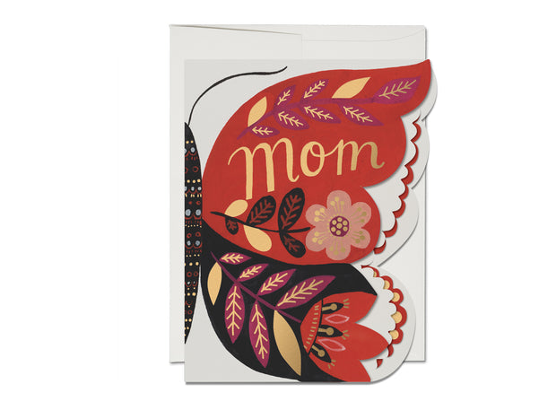 butterfly mom die-cut card