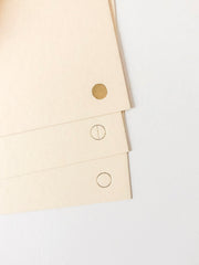 moons gold foil stationery - set of 6