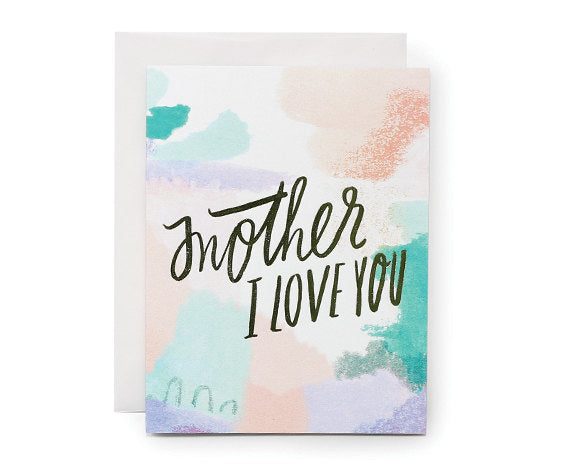 mother i love you gold foil card