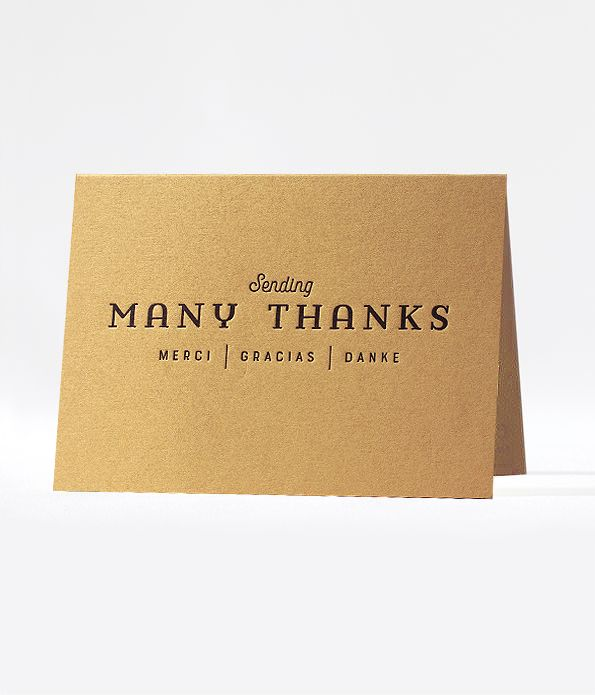 multiways thanks cards - set of 6