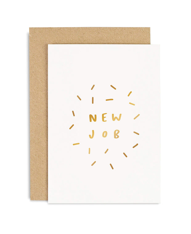 New Job Sparkle Card