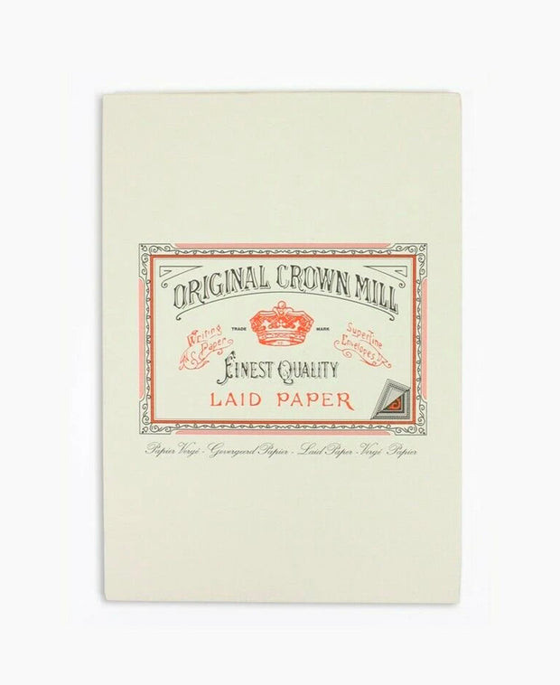 cream laid A5 writing paper pad- 50 sheets