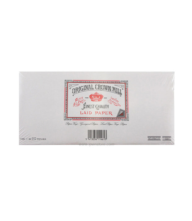 original crown mill cream laid envelopes 4.25 x 8.75- 25pk