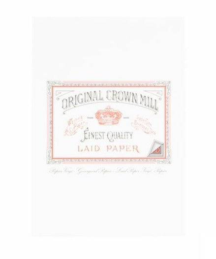 original crown mill white laid writing paper