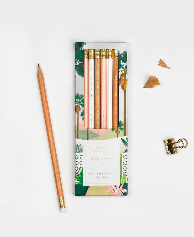 palm springs pencil set