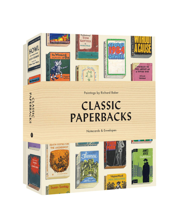 classic paperback book notecards - set of 12