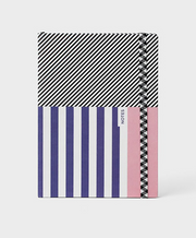 nautical canvas dot grid notebook