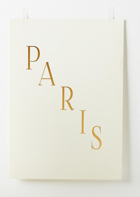 paris gold foil print