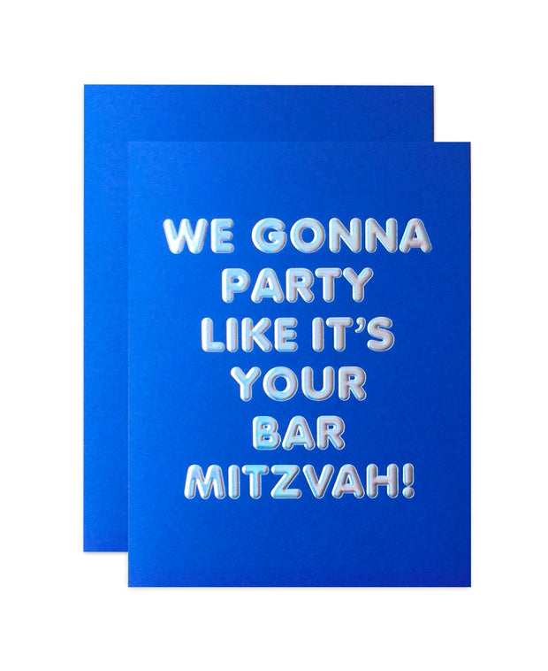 party like it's your bar mitzvah card