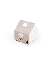 concrete pen holder house - white