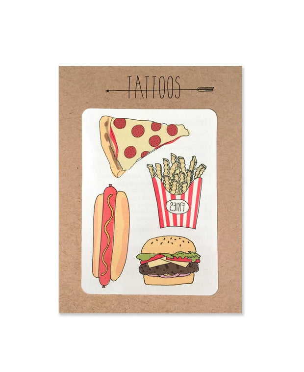 pizza etc temporary tattoos