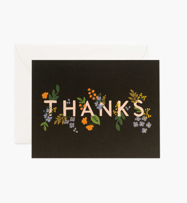 posey thank you - single card or set of 8
