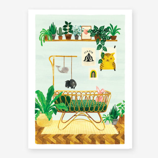 baby bedroom small print