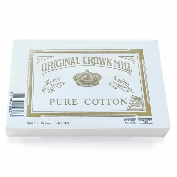 "original crown mill cotton flat 4"" x 6"" cards - 50qty"
