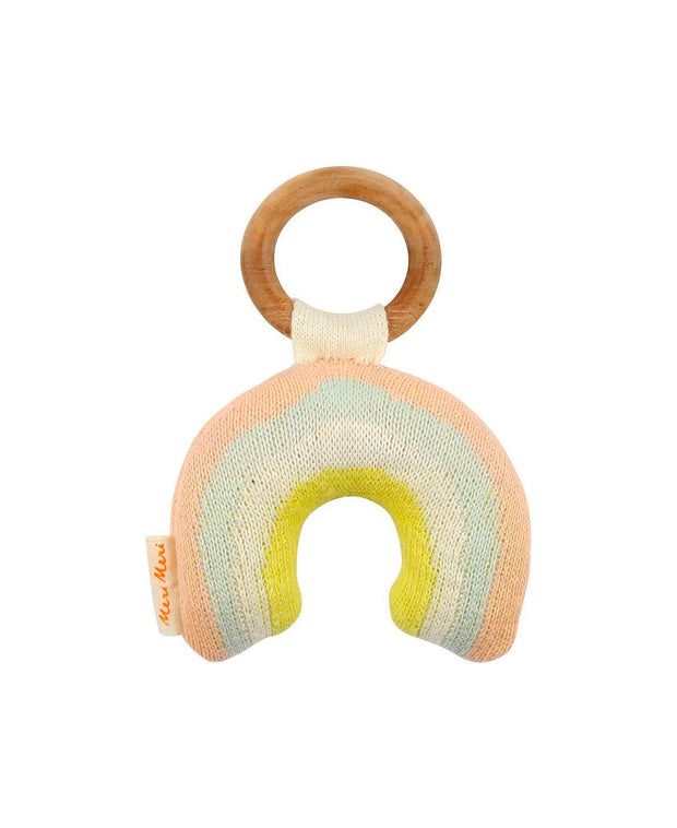 organic cotton rainbow rattle