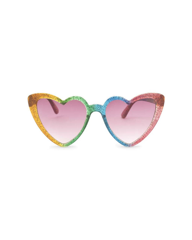 rainbow glitter hearts sunglasses