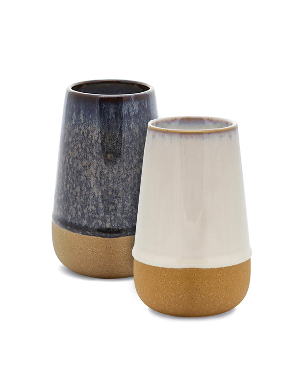 reactive dripped glaze ceramic candles - 10oz