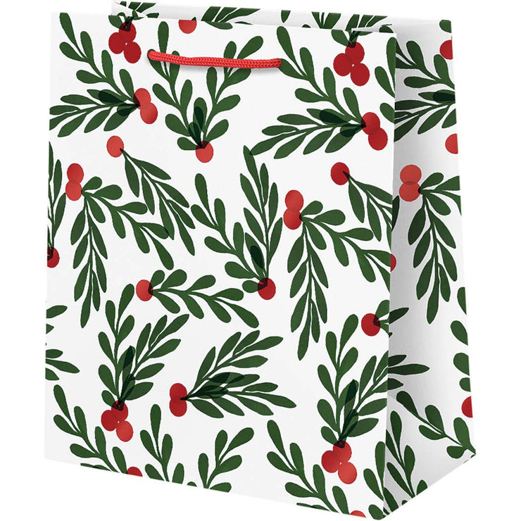 red berries with leaves gift bags - small, medium & large sizes