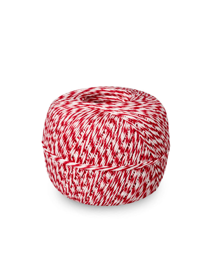 red bakers twine - 1/2 lb roll