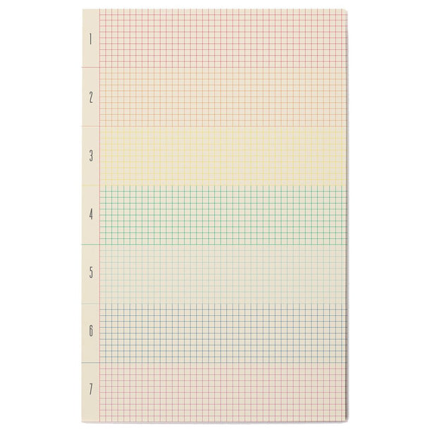 roygbiv rainbow grid notepad