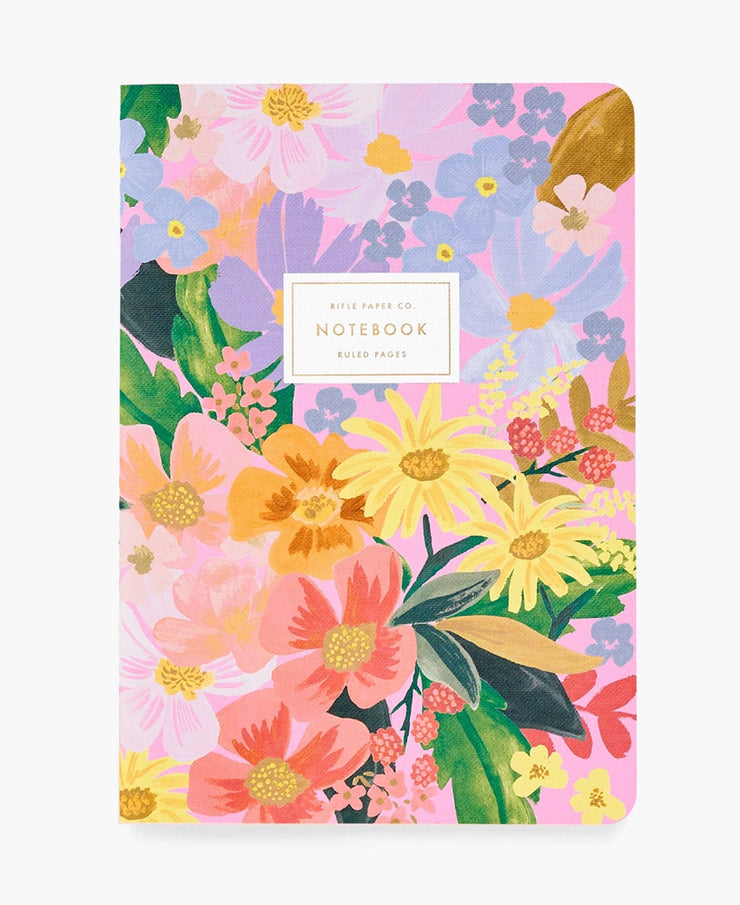 marguerite stitched notebooks - set of three
