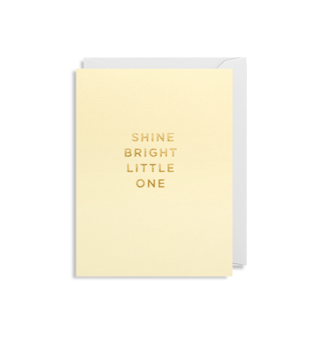 shine bright little one card