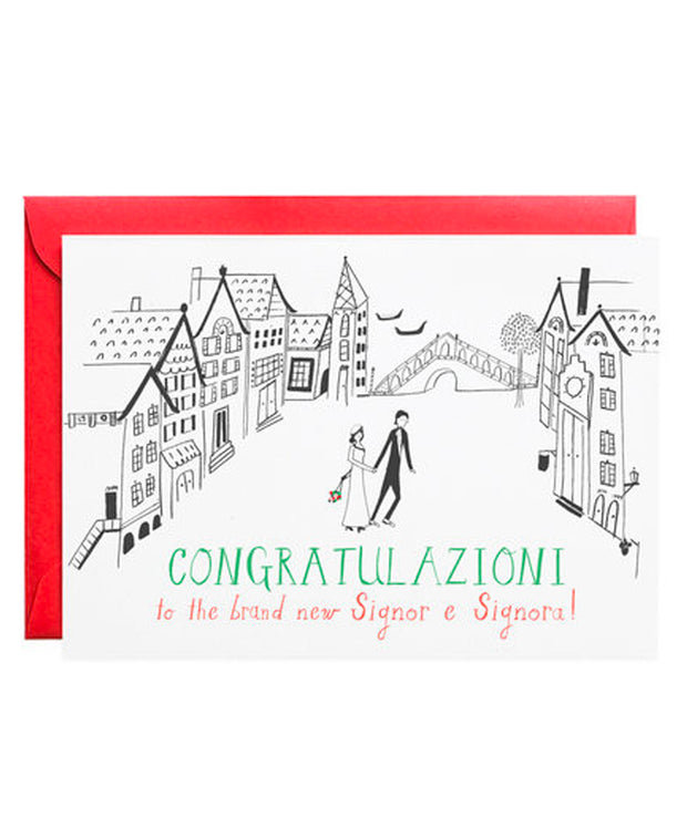 signor e signora wedding card