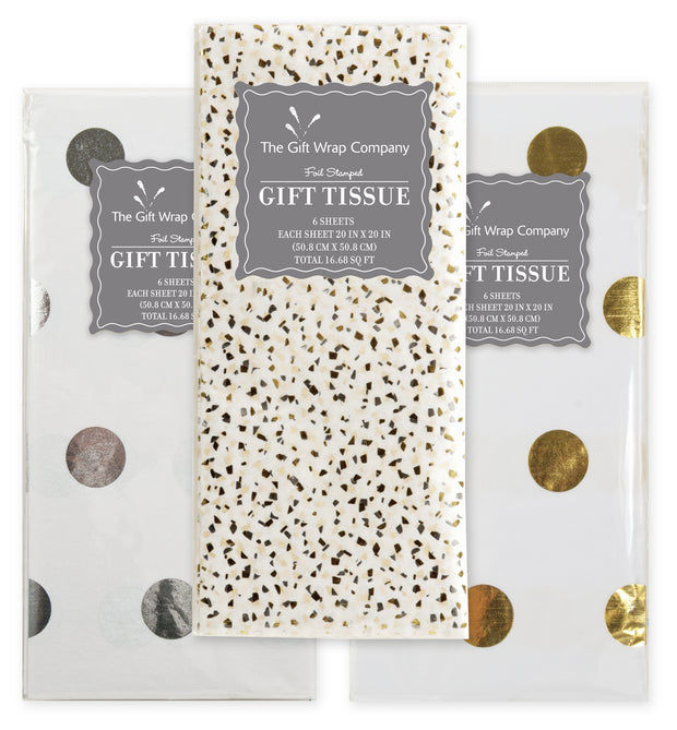 silver & gold foil tissue papers