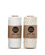 natural + silver or gold glitter twine - 100 yards
