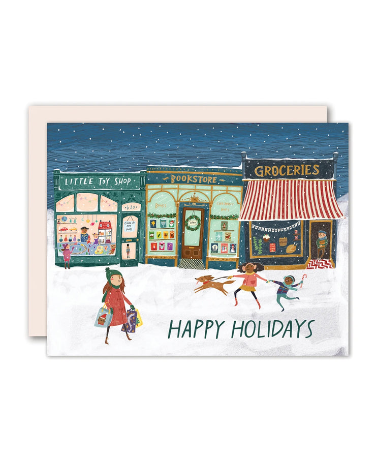 small shop christmas cards - set of 8