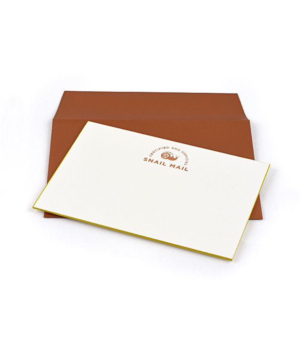 snail mail sorbet flat cards- set of 15