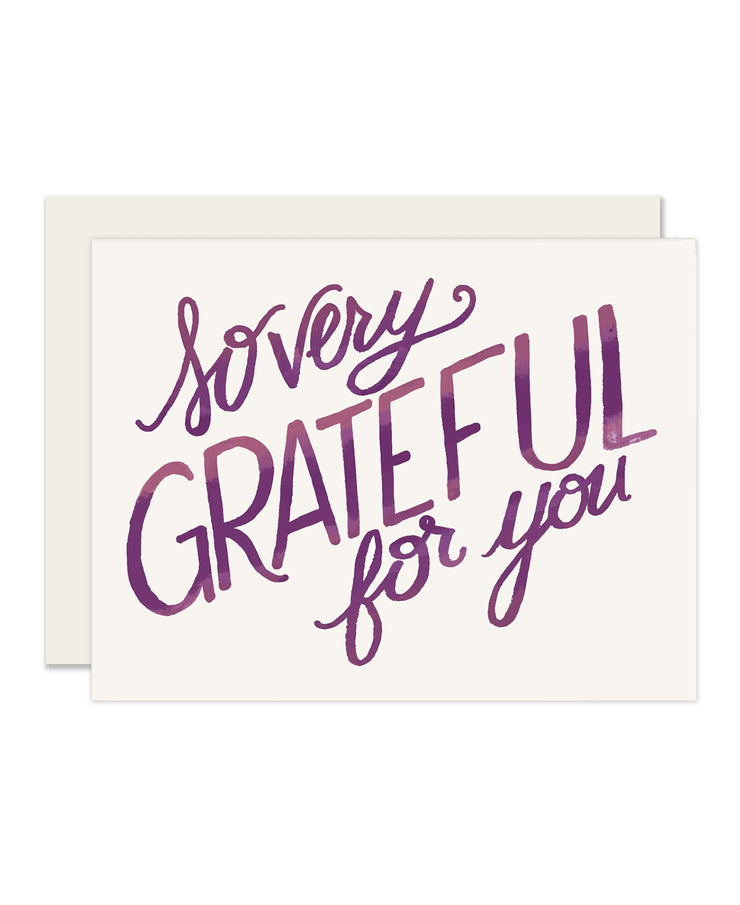 so very grateful for you card